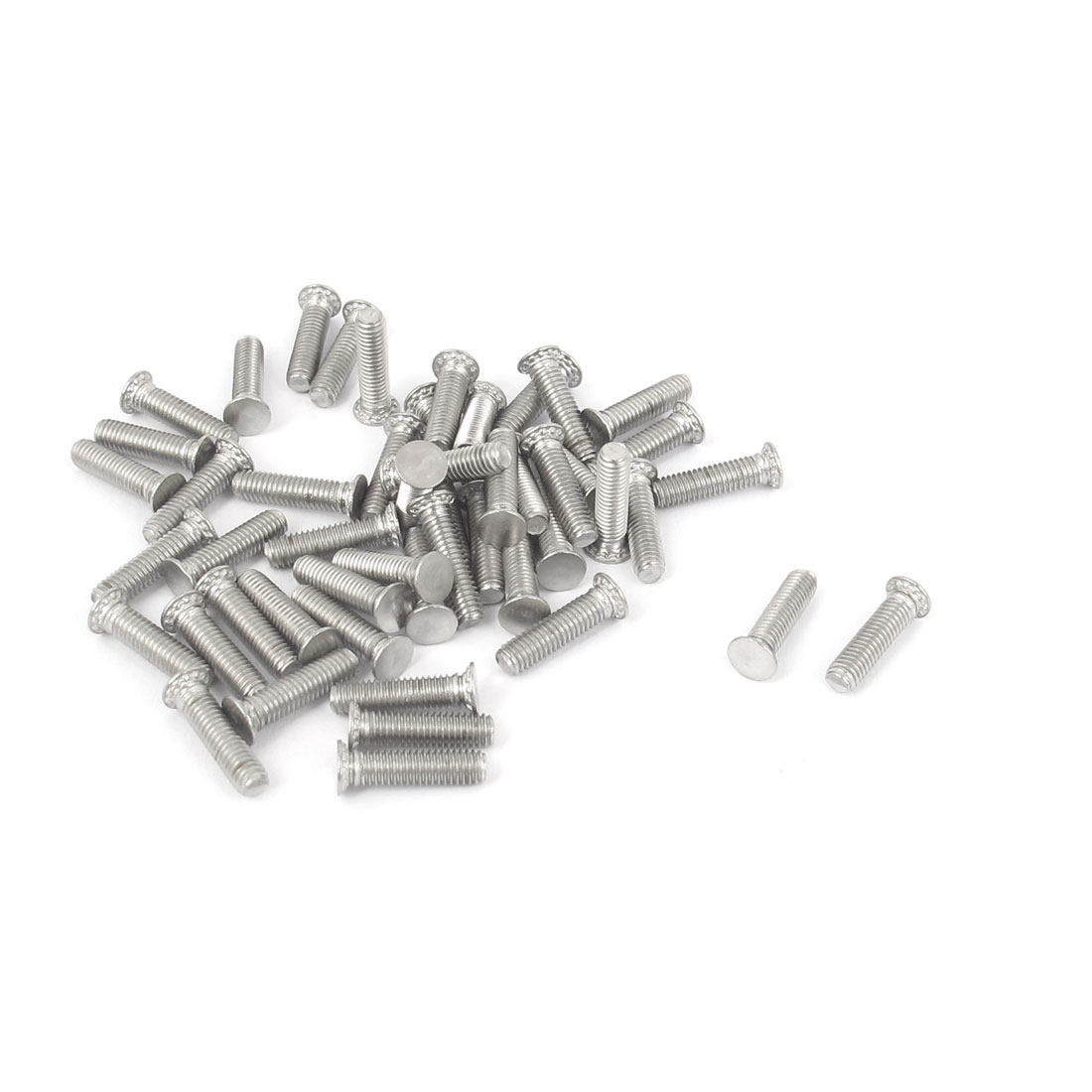M3x12mm Flush Head Stainless Steel Self Clinching Threaded Studs Fastener 50pcs