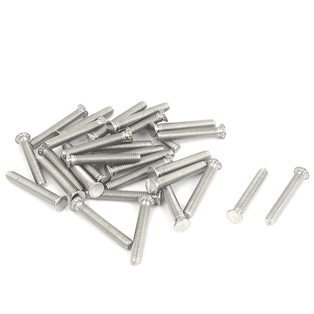 M3x20mm Flush Head Stainless Steel Self Clinching Threaded Studs Fastener 30pcs