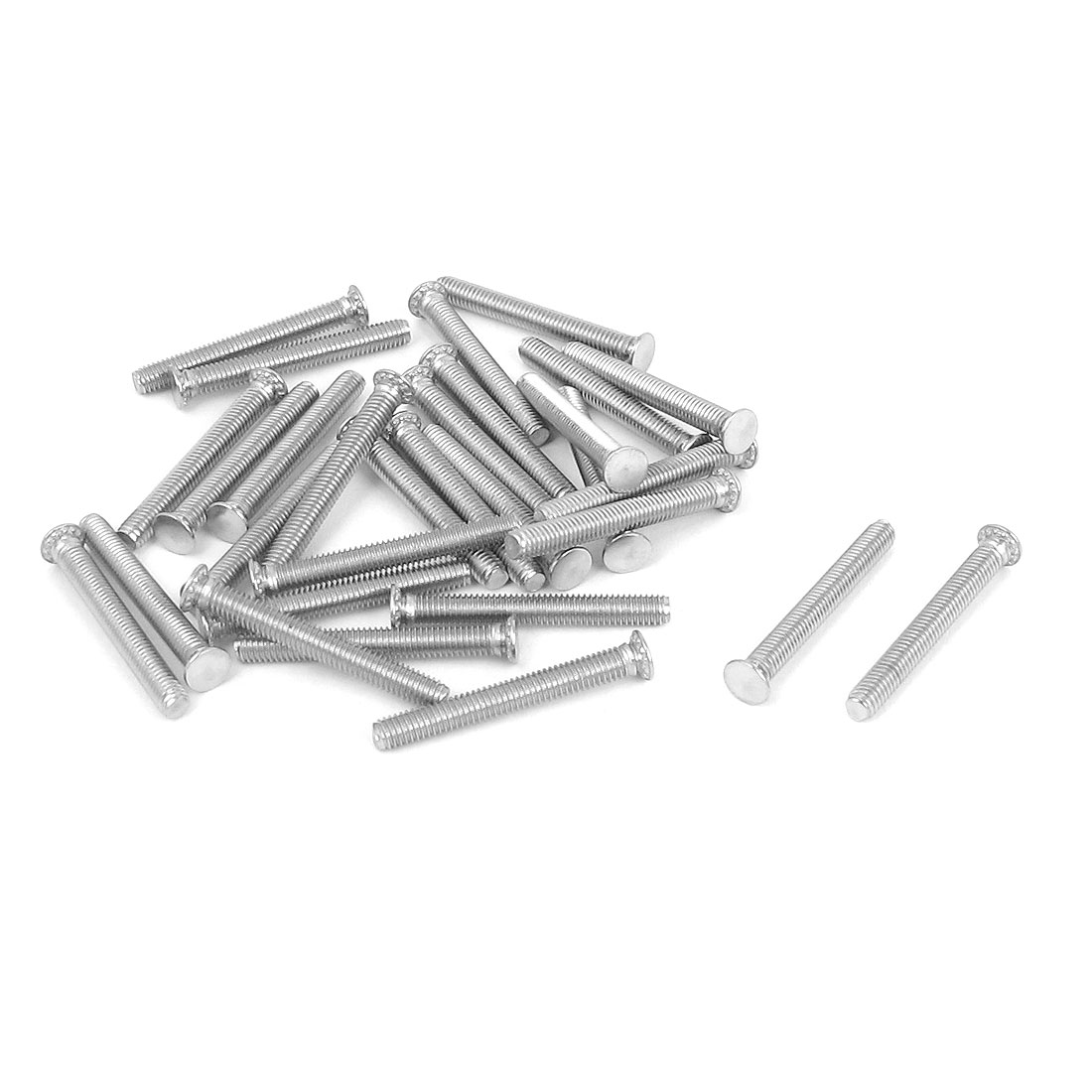 M3x25mm Flush Head Stainless Steel Self Clinching Threaded Studs Fastener 25pcs