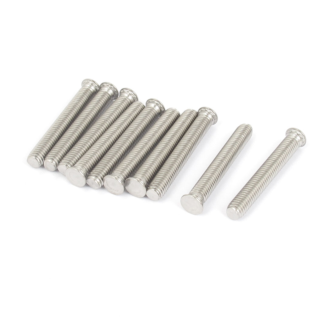 M5x35mm Flush Head Stainless Steel Self Clinching Threaded Studs Fastener 10pcs
