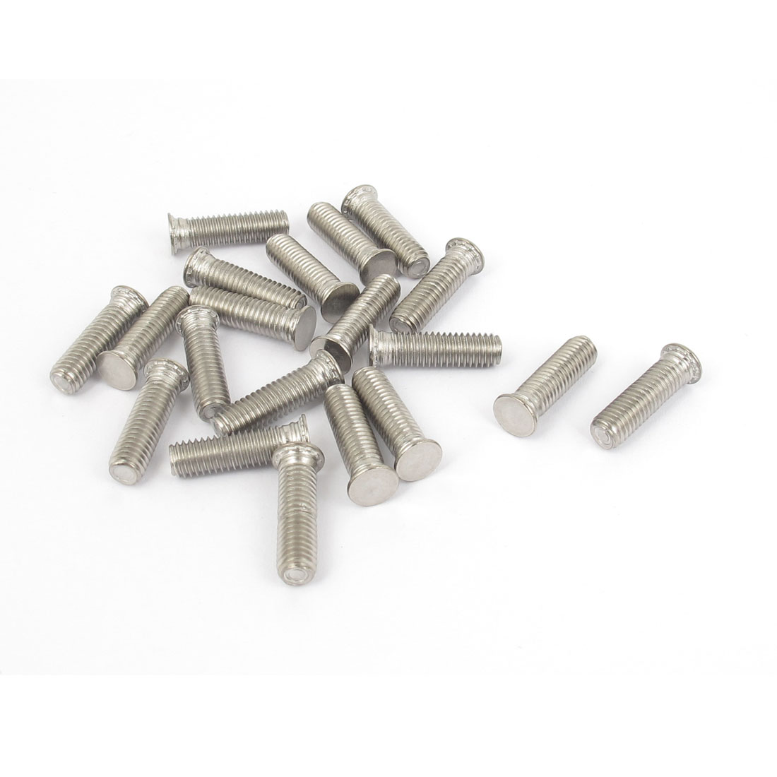 M5x18mm Flush Head Stainless Steel Self Clinching Threaded Studs Fastener 20pcs