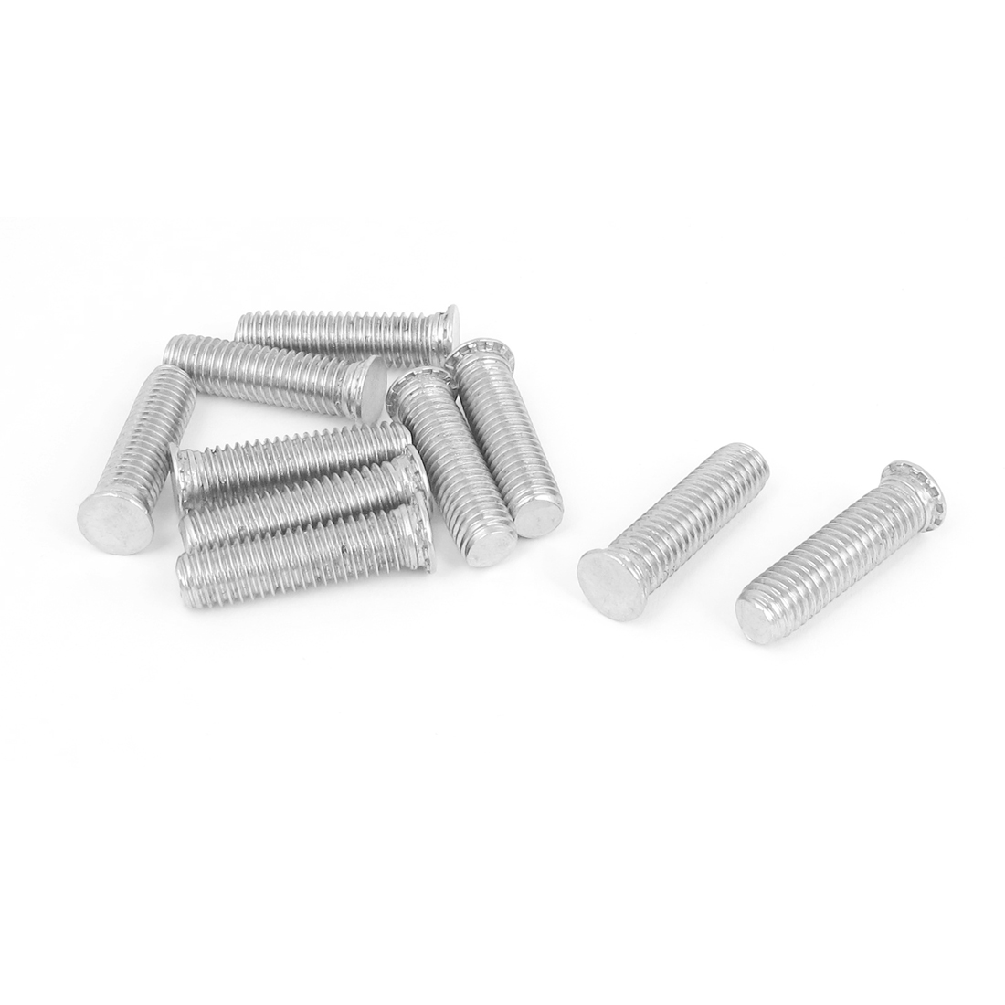 M8x30mm Flush Head Stainless Steel Self Clinching Threaded Studs Fastener 10pcs