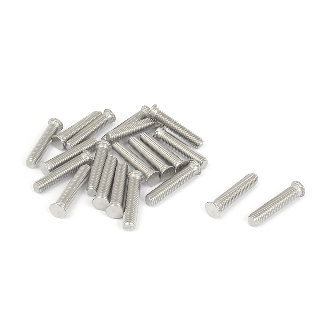 M5x25mm Flush Head Stainless Steel Self Clinching Threaded Studs Fastener 20pcs