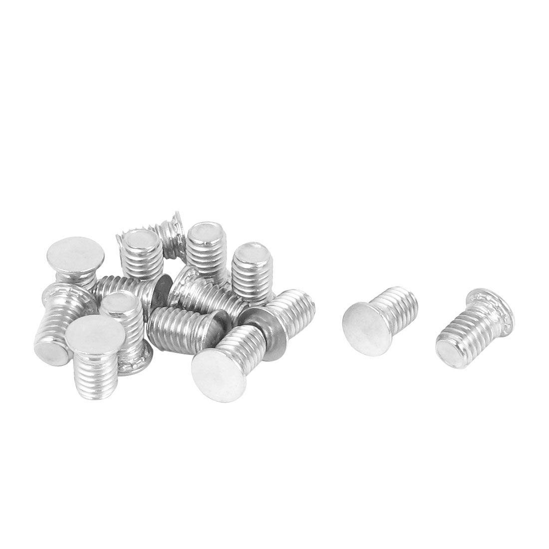 M6x10mm Flush Head Stainless Steel Self Clinching Threaded Studs Fastener 15pcs
