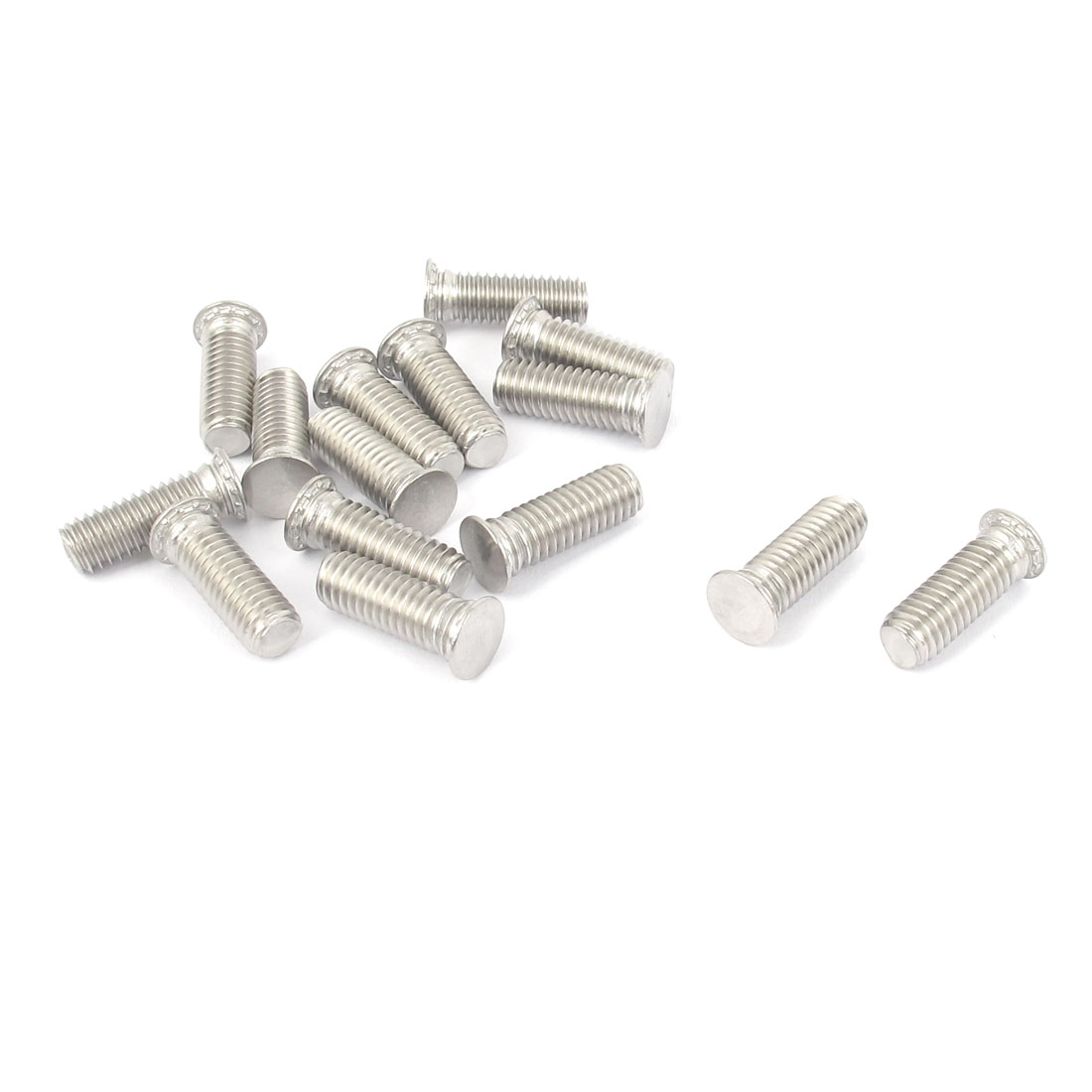 M6x18mm Flush Head Stainless Steel Self Clinching Threaded Studs Fastener 15pcs