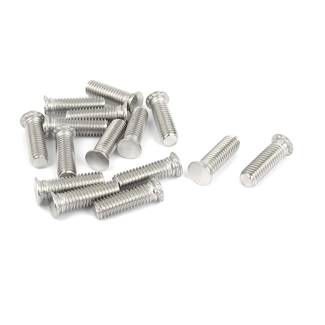 M6x20mm Flush Head Stainless Steel Self Clinching Threaded Studs Fastener 15pcs