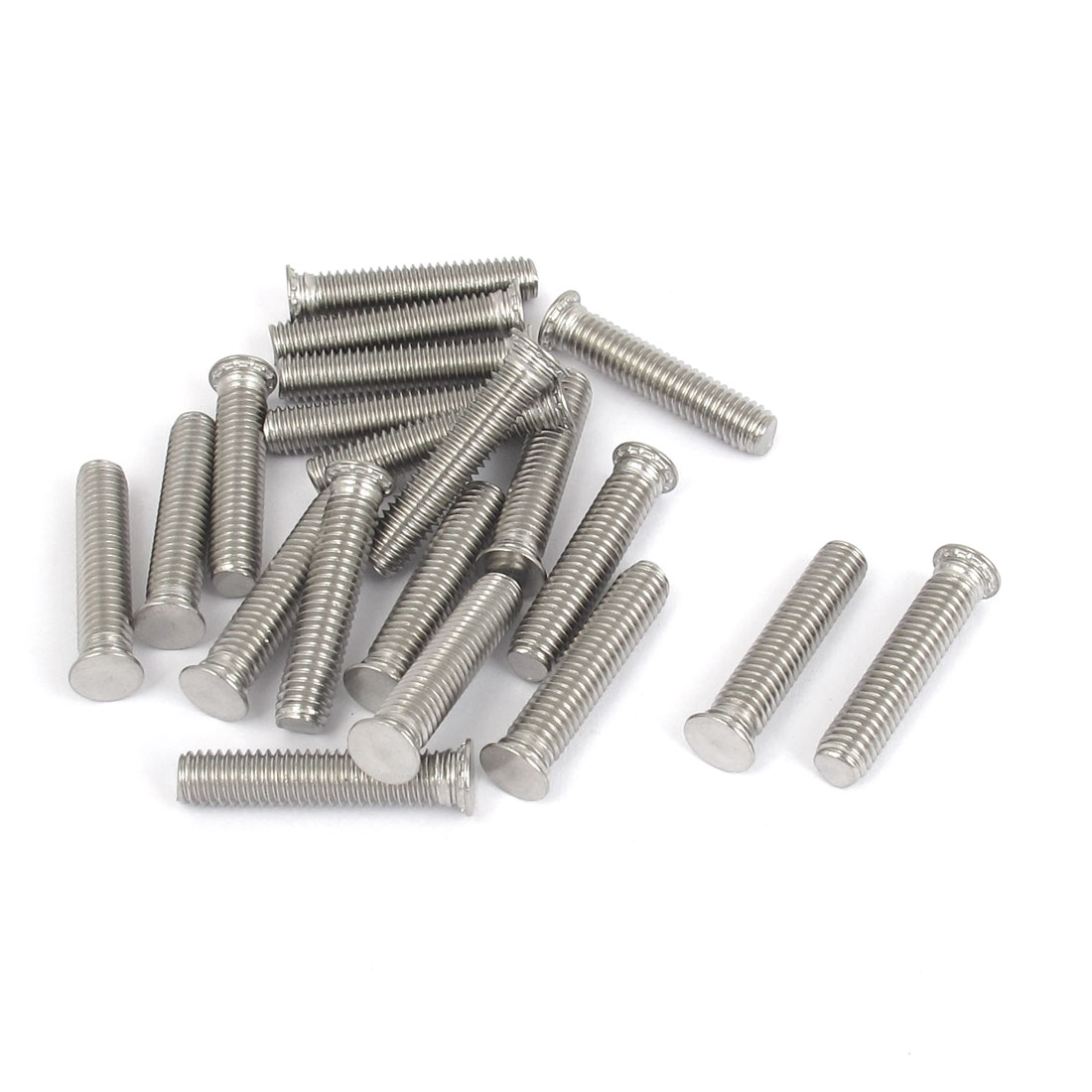 M6x30mm Flush Head Stainless Steel Self Clinching Threaded Studs Fastener 20pcs