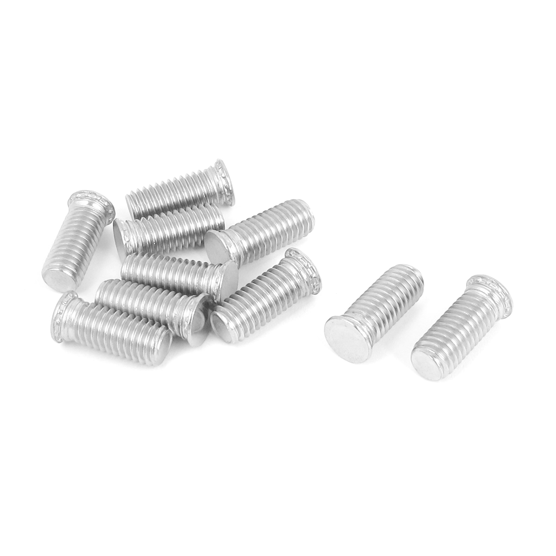 M8x20mm Flush Head Stainless Steel Self Clinching Threaded Studs Fastener 10pcs