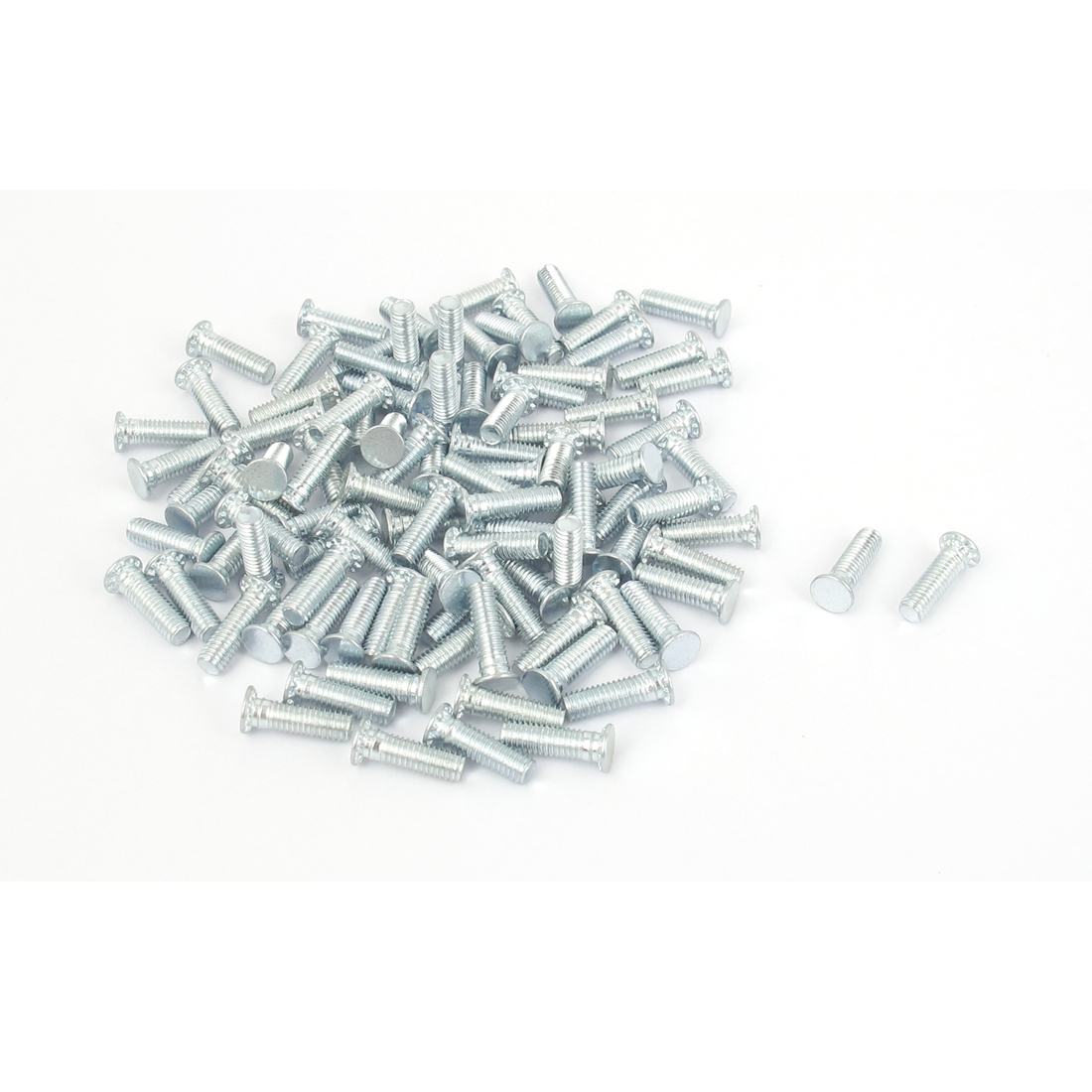 M3x10mm Zinc Plated Flush Head Self Clinching Threaded Studs Fastener 100pcs