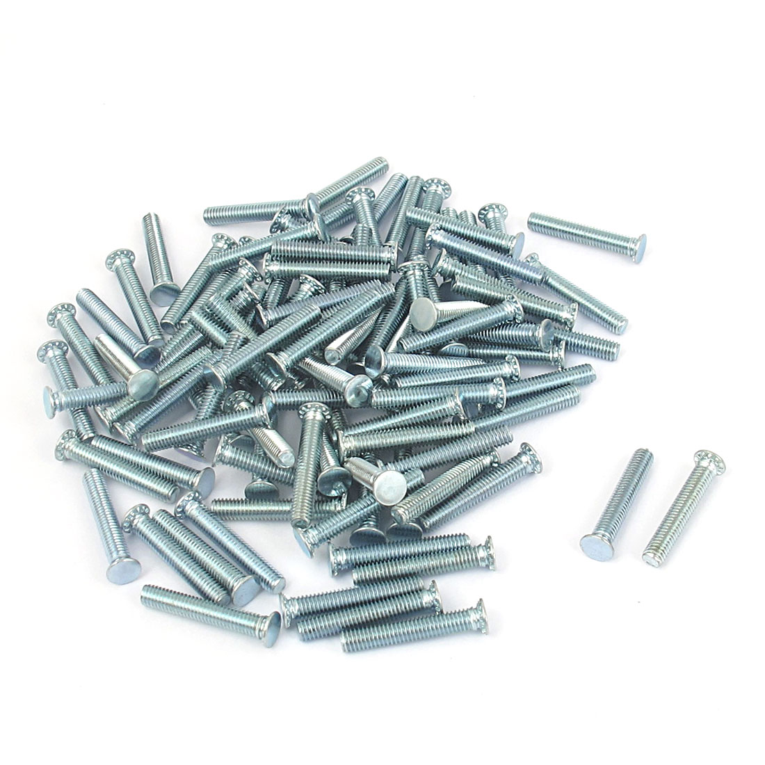 M3x18mm Zinc Plated Flush Head Self Clinching Threaded Studs Fastener 100pcs