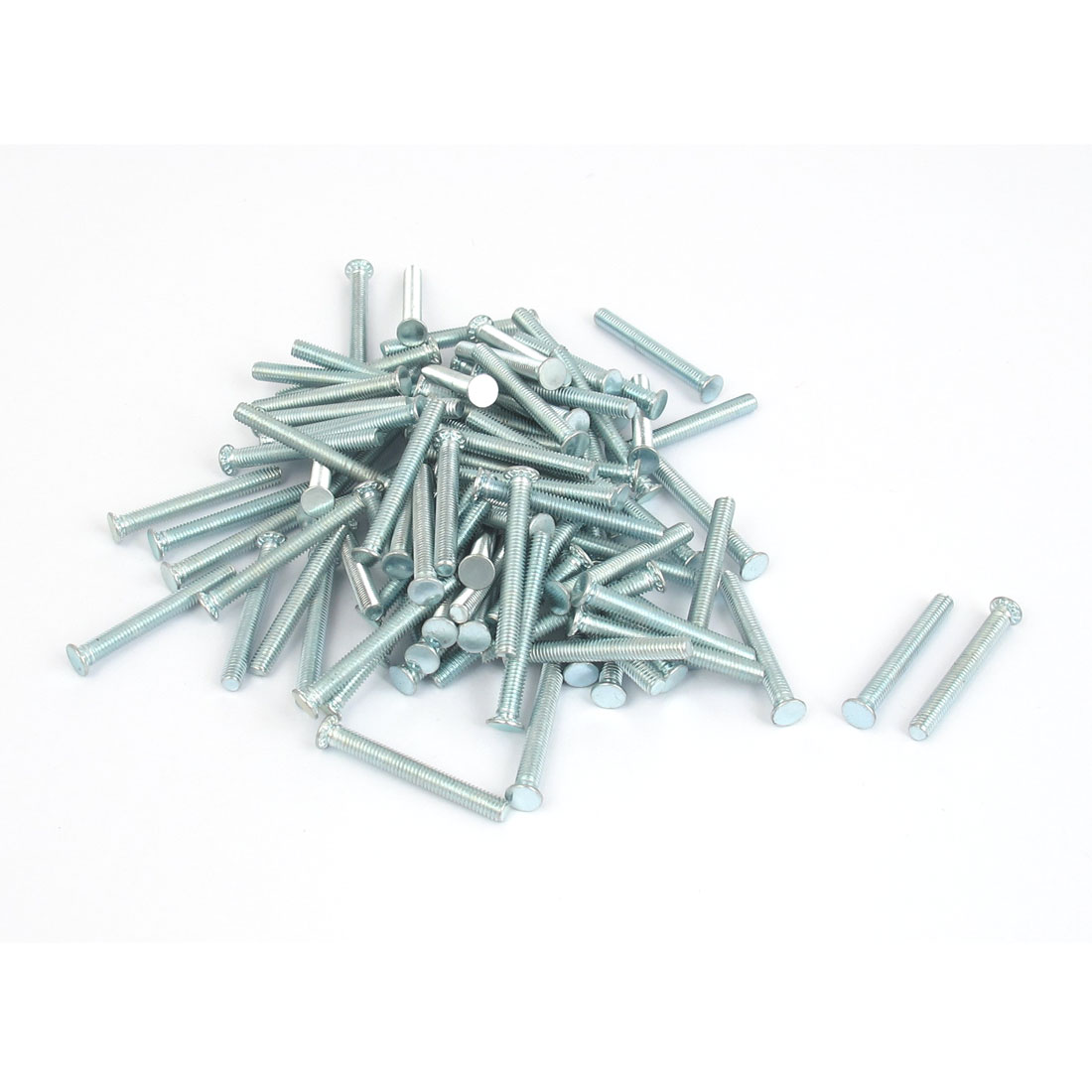 M3x25mm Zinc Plated Flush Head Self Clinching Threaded Studs Fastener 100pcs