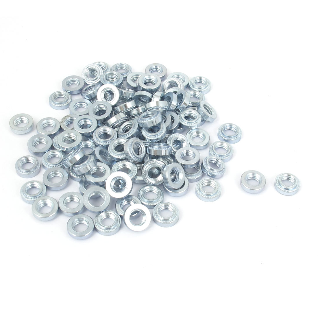 M5 Zinc Plated Self Clinching Rivet Nut Fastener 100pcs for 1mm Thin Plates