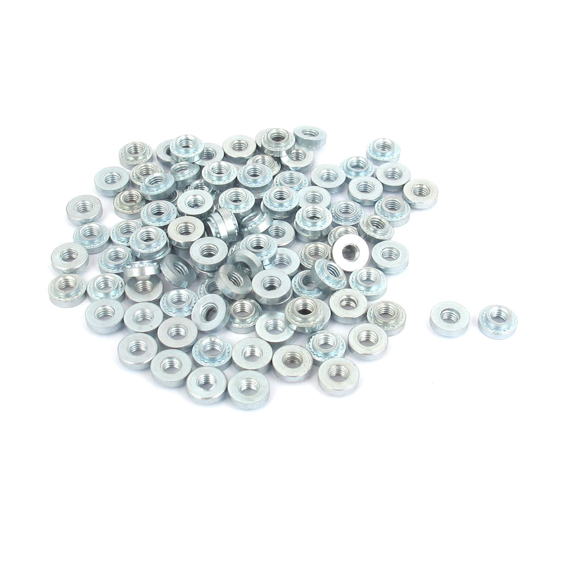 M3 Zinc Plated Self Clinching Rivet Nut Fastener 100pcs for 2mm Thin Plates
