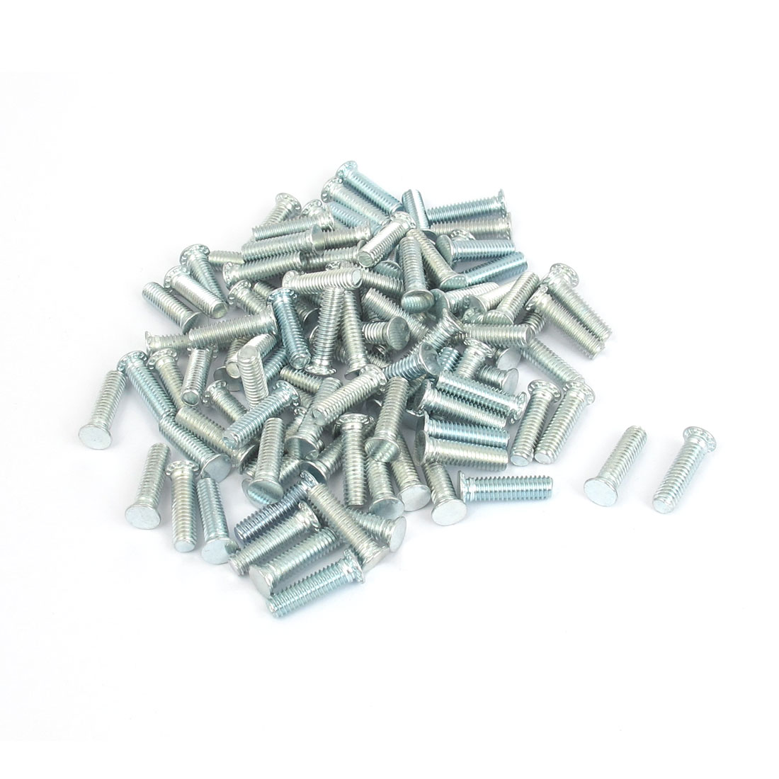 M4x15mm Zinc Plated Flush Head Self Clinching Threaded Studs Fastener 100pcs