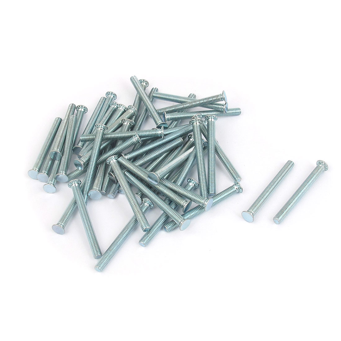 M3x30mm Zinc Plated Flush Head Self Clinching Threaded Studs Fastener 50pcs