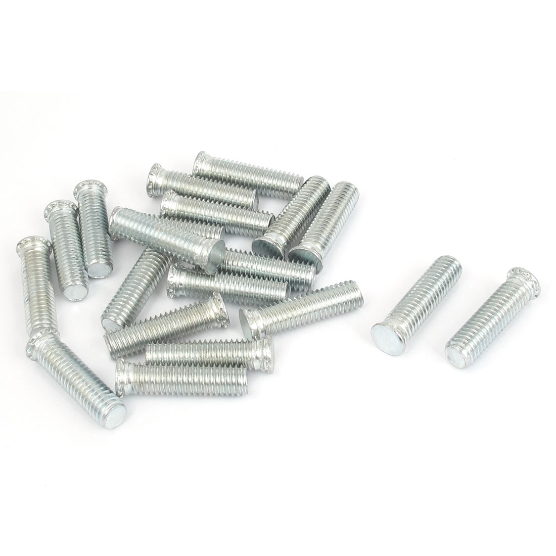 M8x30mm Zinc Plated Flush Head Self Clinching Threaded Studs Fastener 20pcs
