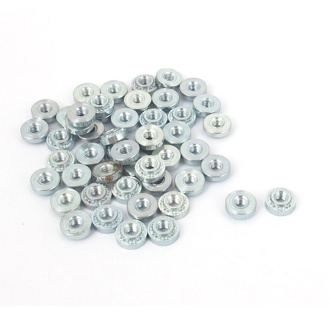 M2.5 Zinc Plated Self Clinching Rivet Nut Fastener 50pcs for 1mm Thin Plates