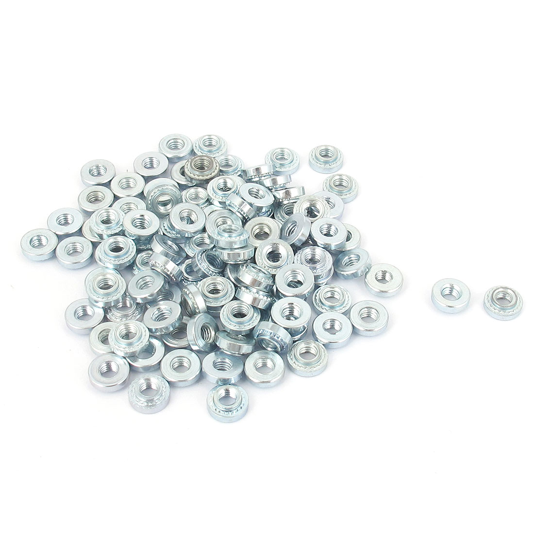 M3 Zinc Plated Self Clinching Rivet Nut Fastener 100pcs for 1mm Thin Plates