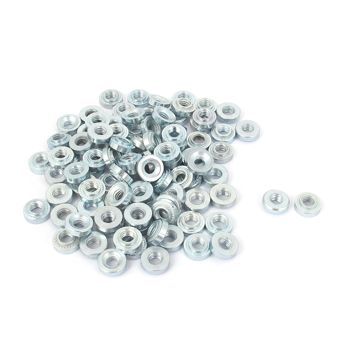 M4 Zinc Plated Self Clinching Rivet Nut Fastener 100pcs for 1mm Thin Plates
