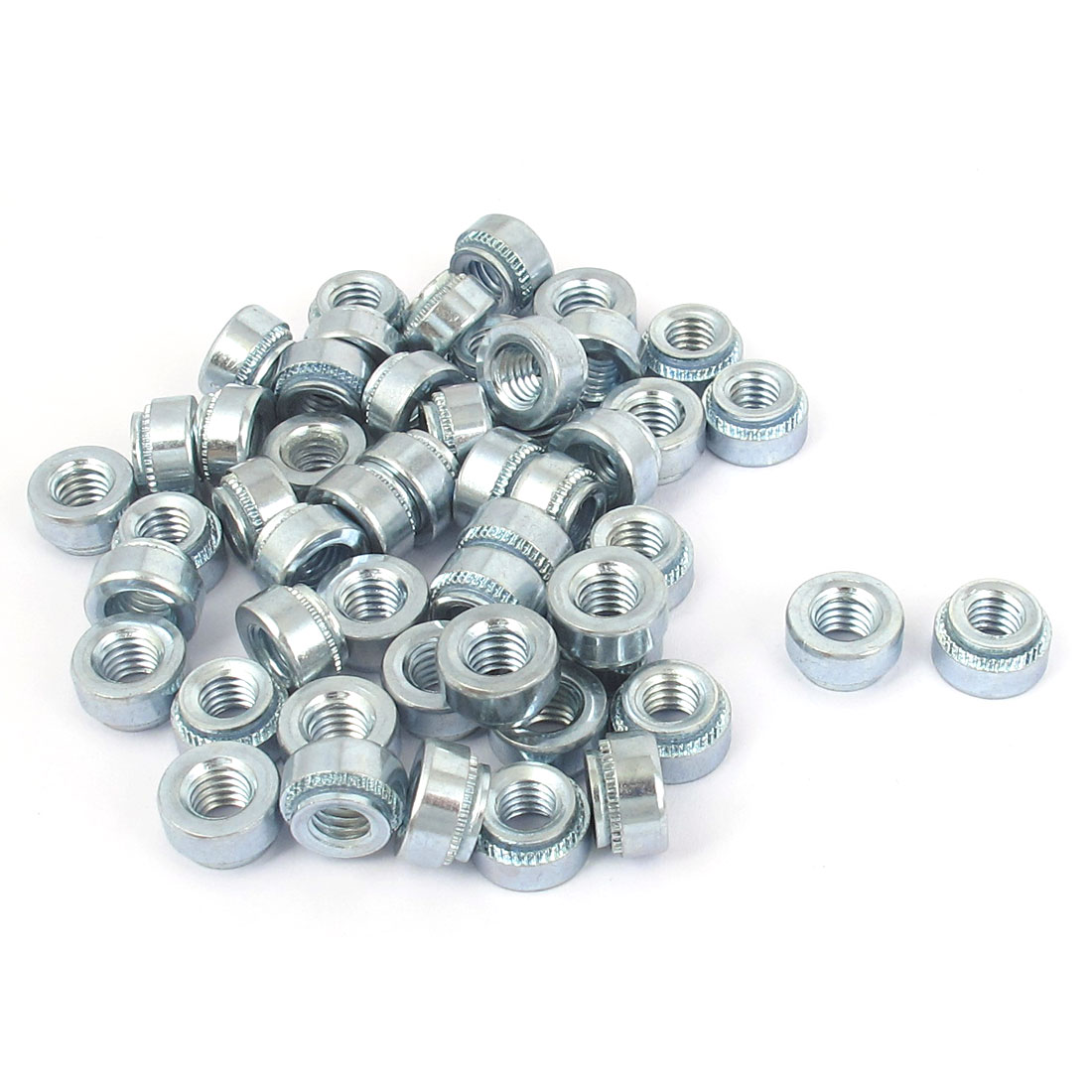 M6 Zinc Plated Self Clinching Rivet Nut Fastener 50pcs for 2mm Thin Plates