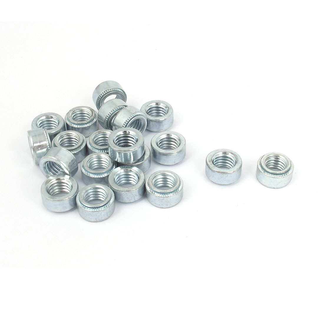 M8 Zinc Plated Self Clinching Rivet Nut Fastener 20pcs for 1mm Thin Plates