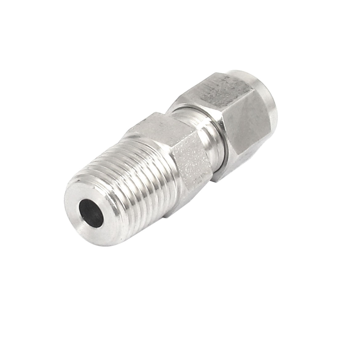 1/4BSP Thread 6mm Tube Dia 304 Stainless Steel Straight Pneumatic Quick Coupler