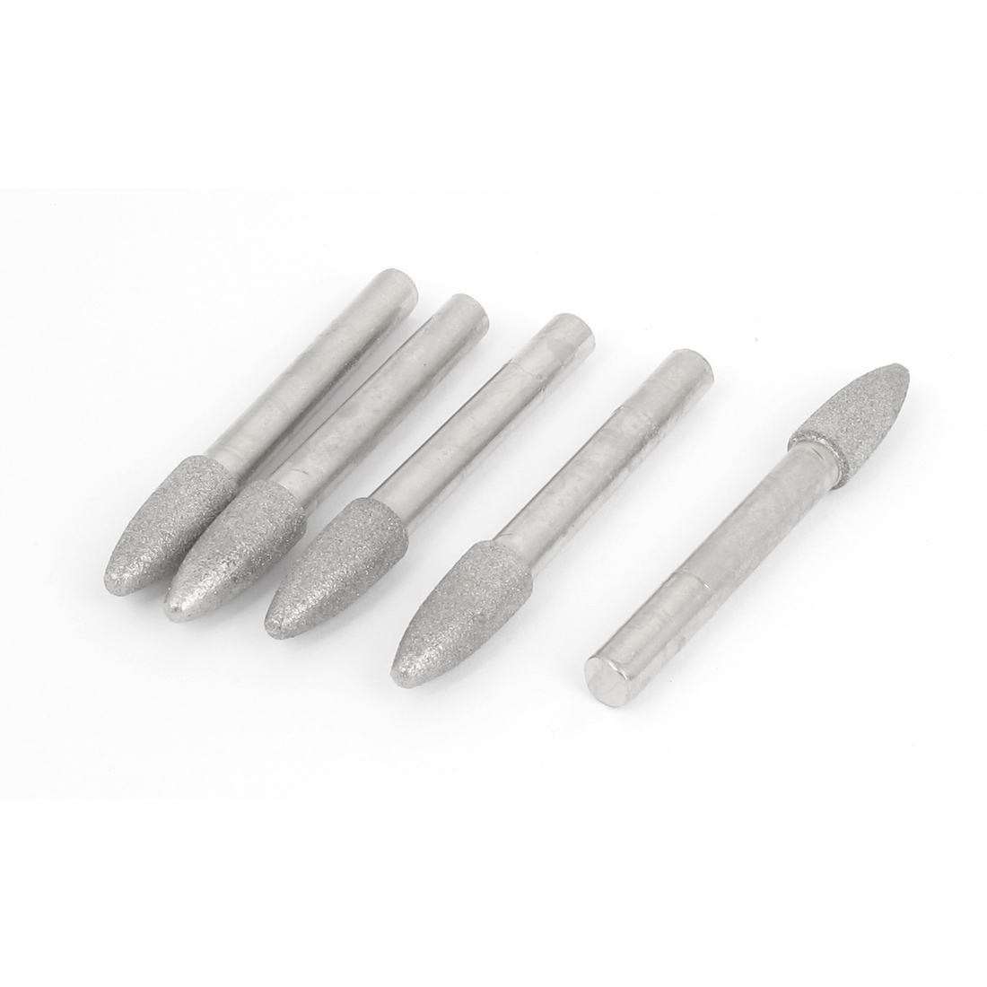6mm Shank 8mm Tapered Head Dia Grinding Diamond Mounted Point 5pcs