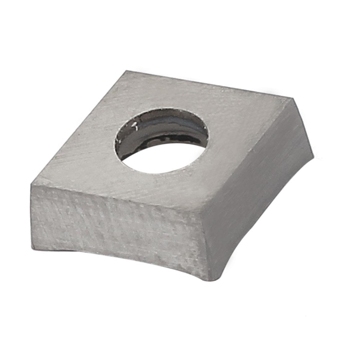 4mm Hole Dia Aluminum Alloy Carbide Insert Silver Tone