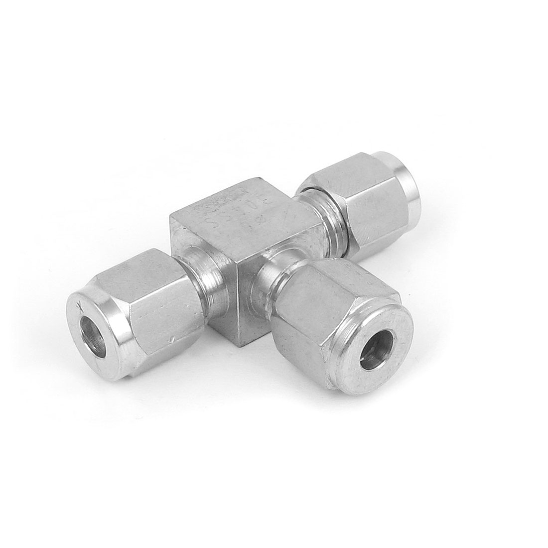 6mm Tube 3 Ways T Shape 304 Stainless Steel Air Quick Coupler Connector