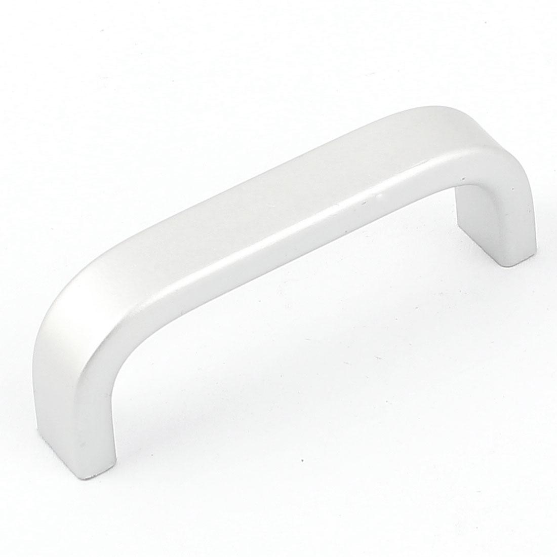 70mm Long Furniture Dresser Cabinet Drawer Pull Handle Silver Tone