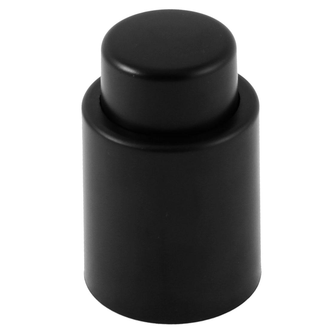 Vacuum Sealed Wine Champagne Liquor Storage Bottle Press Stopper Cap Black