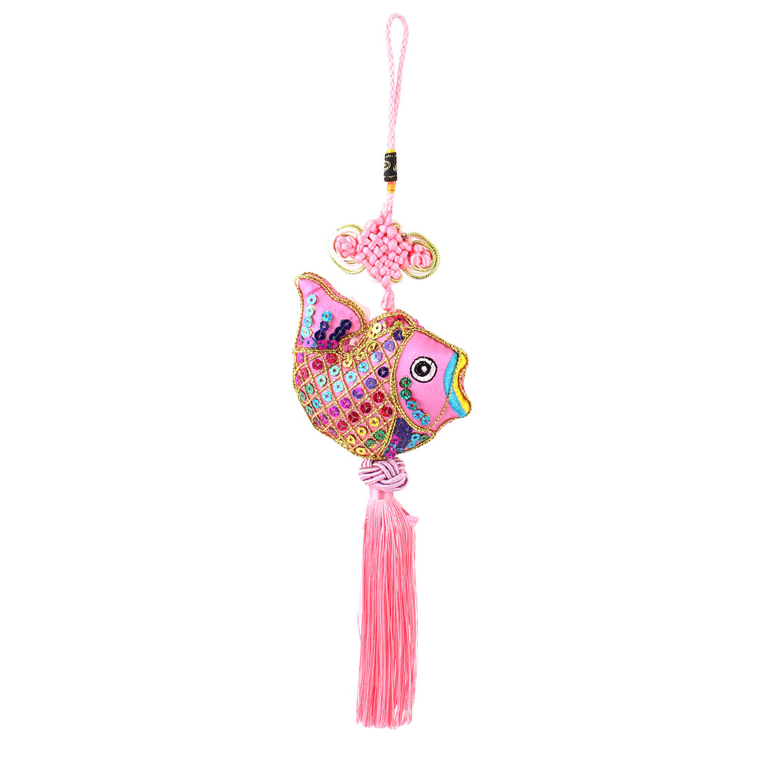 Home Decoration Tassel Decor Chinese Knot Hanging Ornament Pink