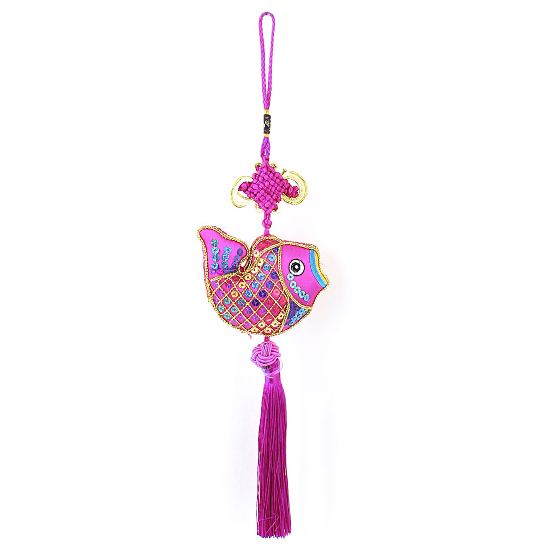 Home Decoration Knotting Pendant Chinese Knot Hanging Tassels Purple