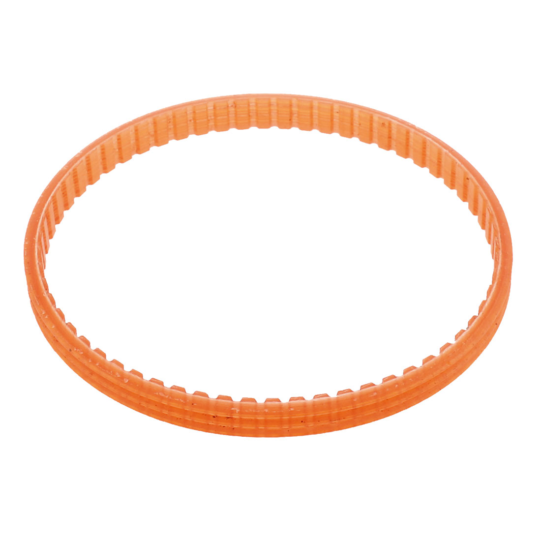 4mm Pitch 62 Tooth 235mm Girth 7mm Width Single Sided Engine PU Timing Pulley Belt Clear Orange