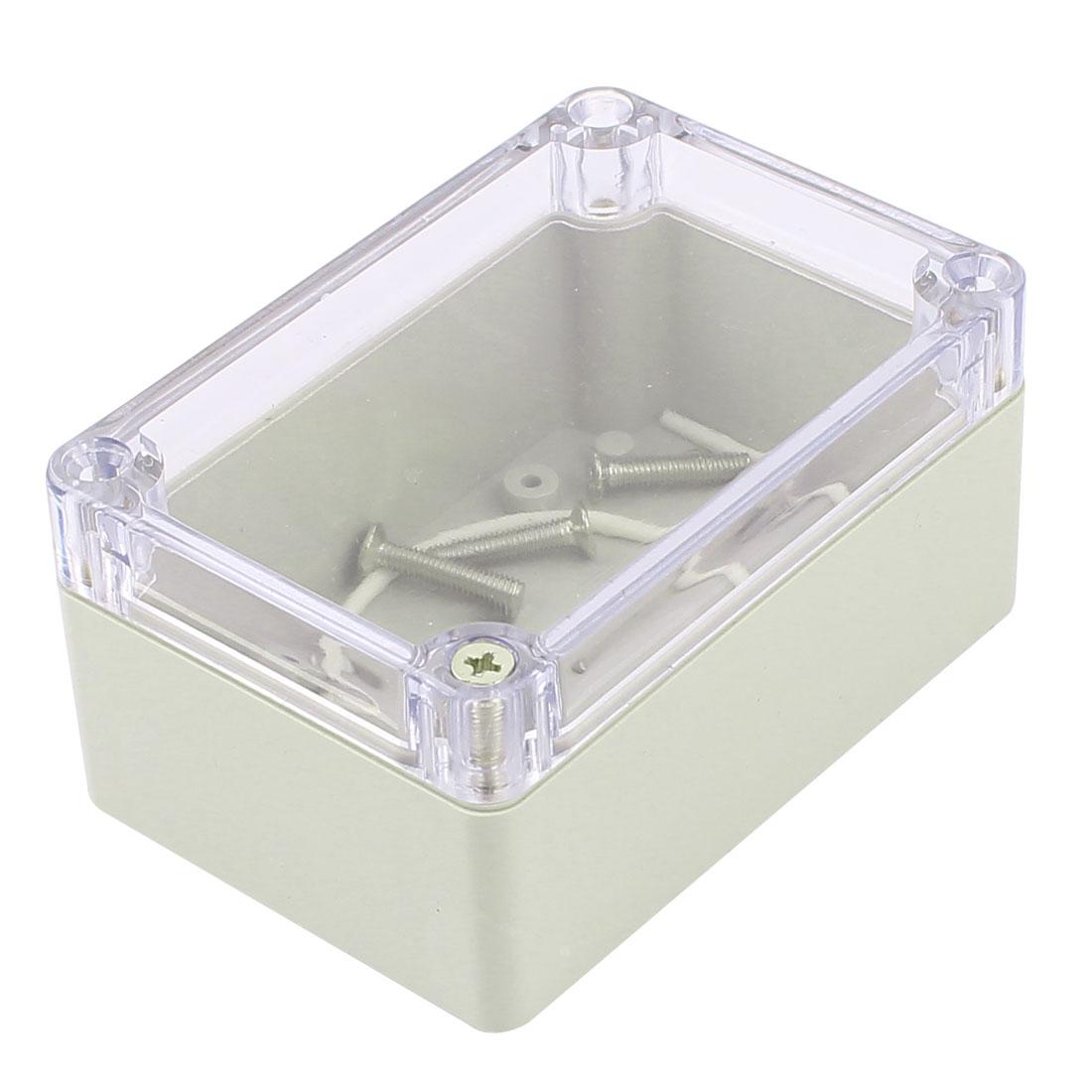 Plastic Enclosure Waterproof Clear Project Box Case 100x68x50mm