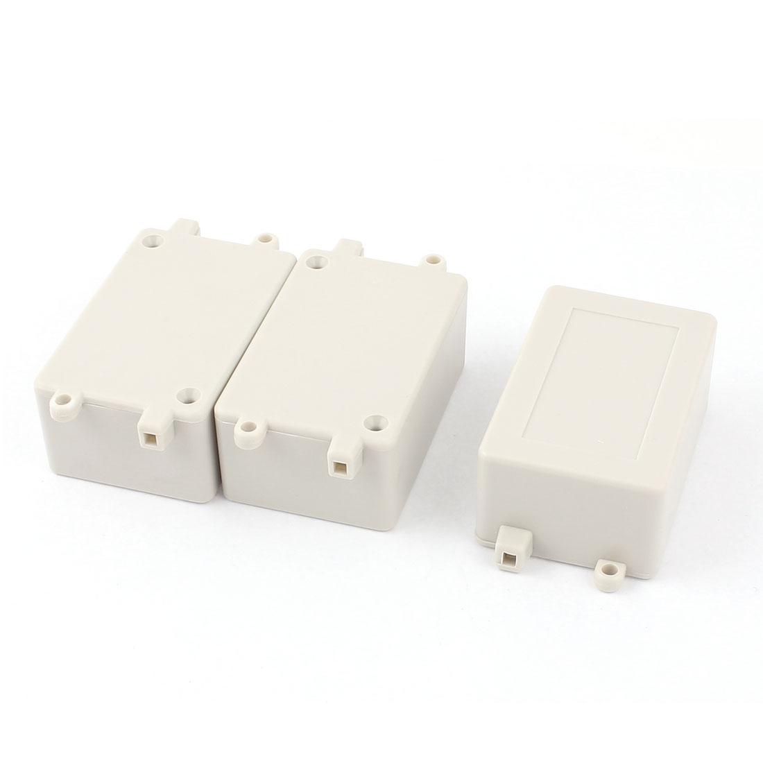 70x45x30mm Cable Connect Plastic Enclosure Case Junction Box 3pcs
