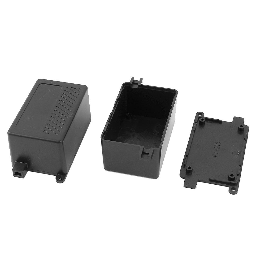 Electric Project Case Junction Box 68x43x36mm Black 2pcs
