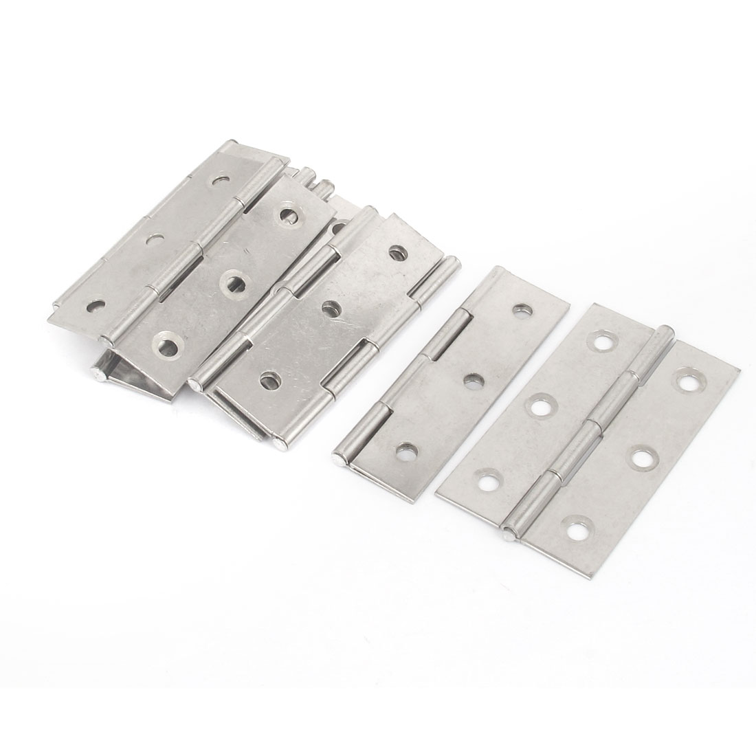 "Home Office Metal Rectangle Interior Window Door Cabinet Hinges Hardware 3"" Long 10pcs"