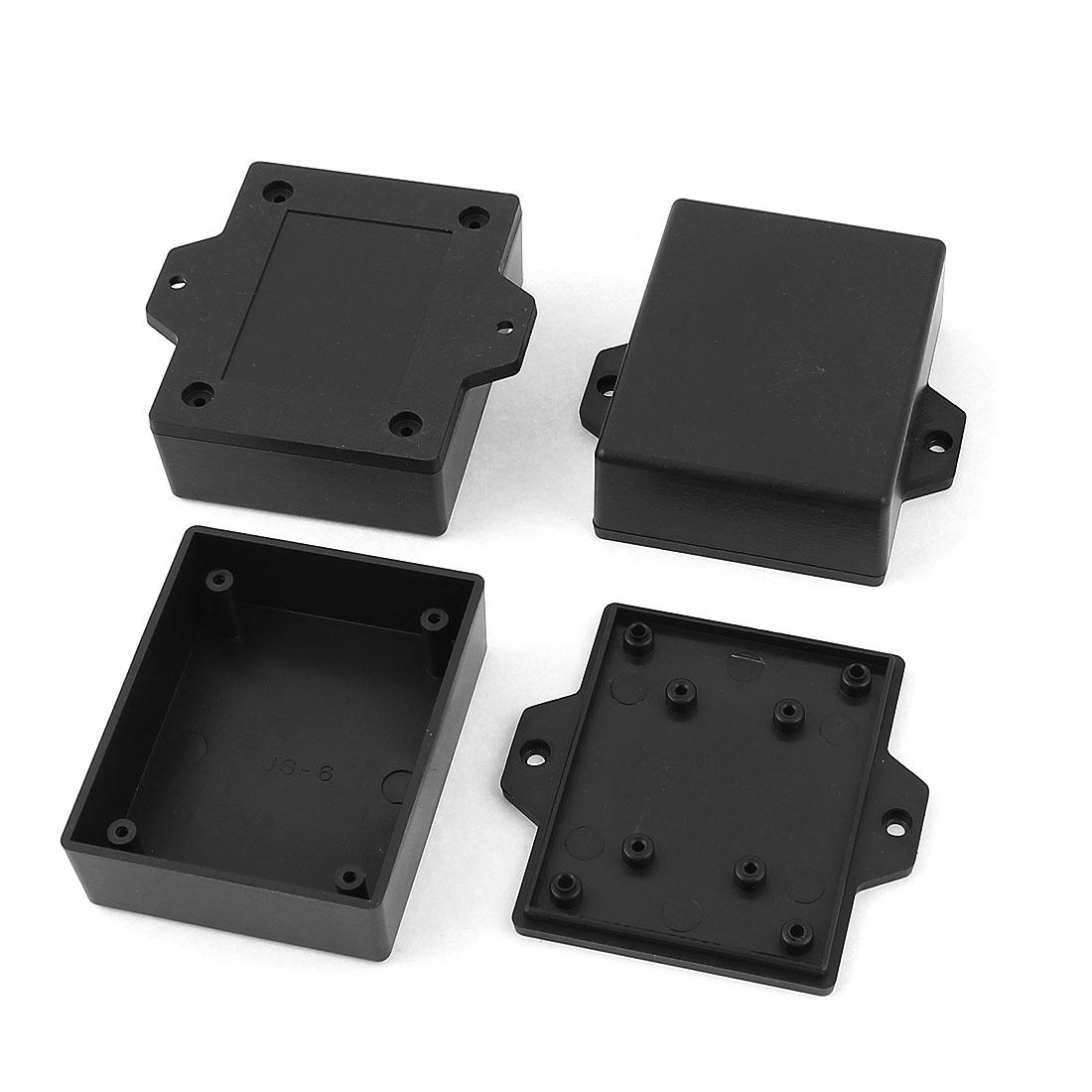 Plastic Enclosure Electric Project Case Junction Box 62x50x23mm Black 3pcs