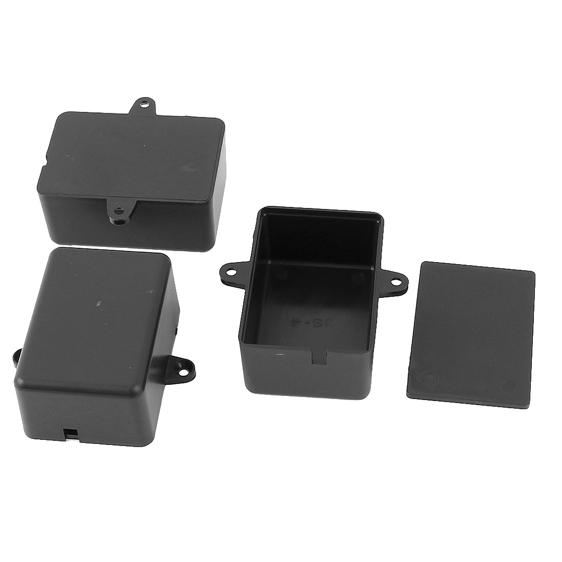 Dustproof IP65 Sealed Electric Switch Cable Junction Box 55x35x23mm Black 3pcs