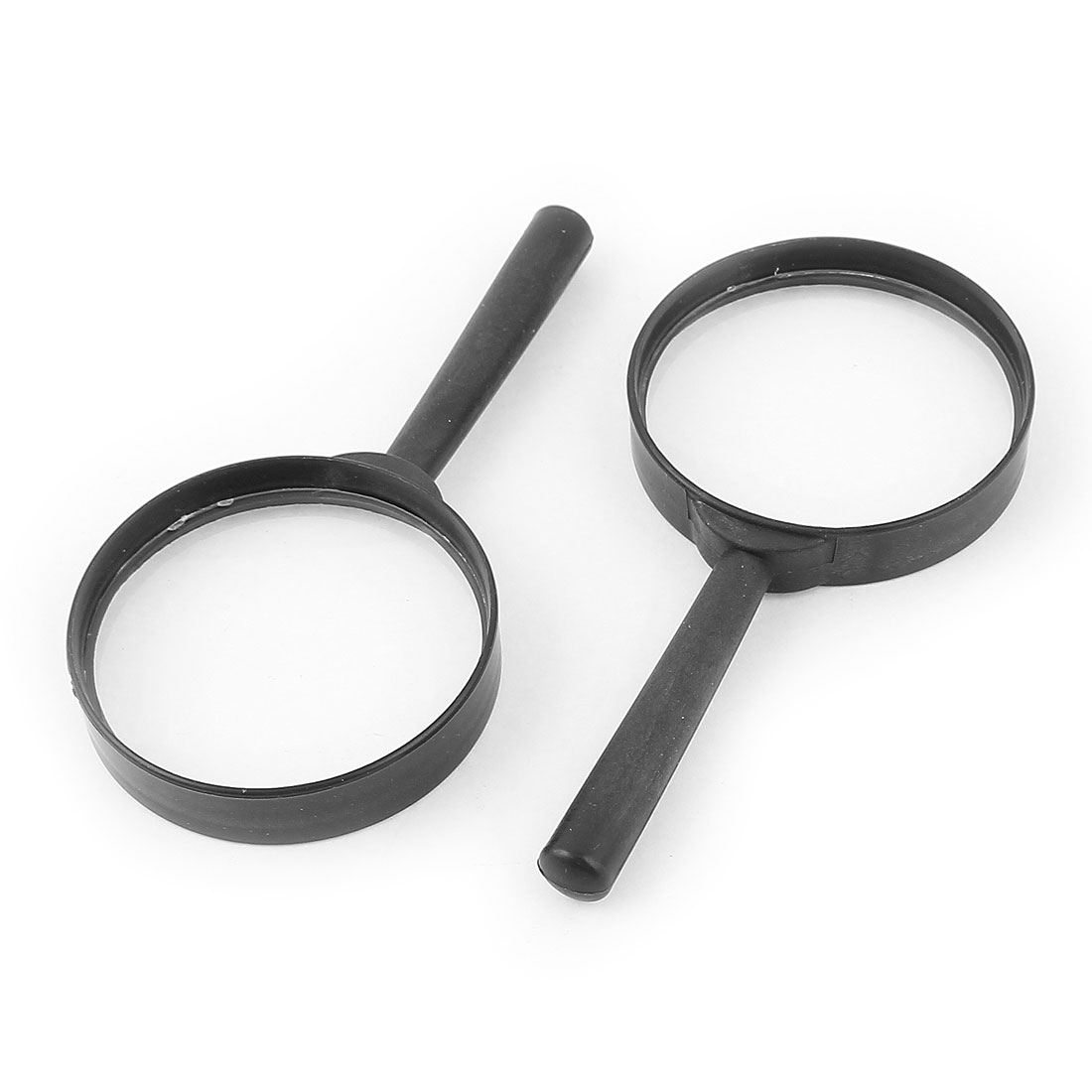 Handheld 60mm Dia Lens 5X Magnifying Glasses Magnifier Jewelry Loupe 5pcs