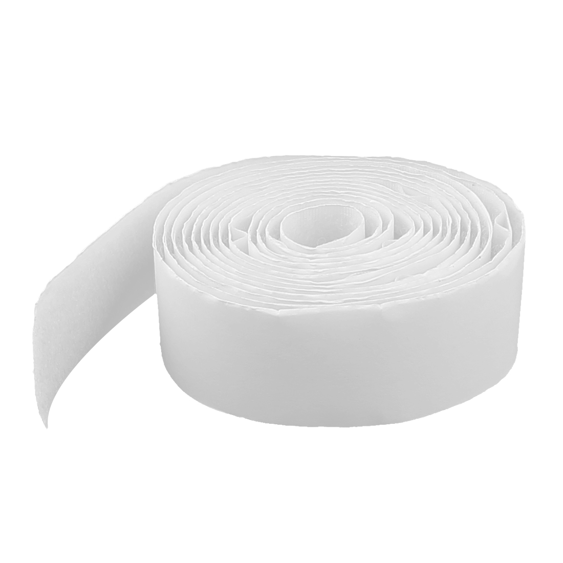 Self Adhesive 25mm Width Back Hook Loop Tape Fastener White 2M Long