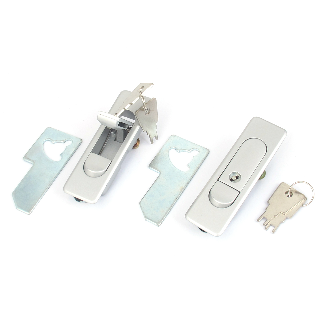 Electric Box Metal Pop up Push Button Security Plane Cam Locking Lock Latch 2pcs