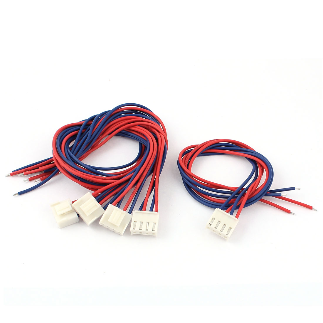 3.96mm Pitch 4-Pin Micro JST Lead Socket Connector Wires Cables 40cm 5pcs