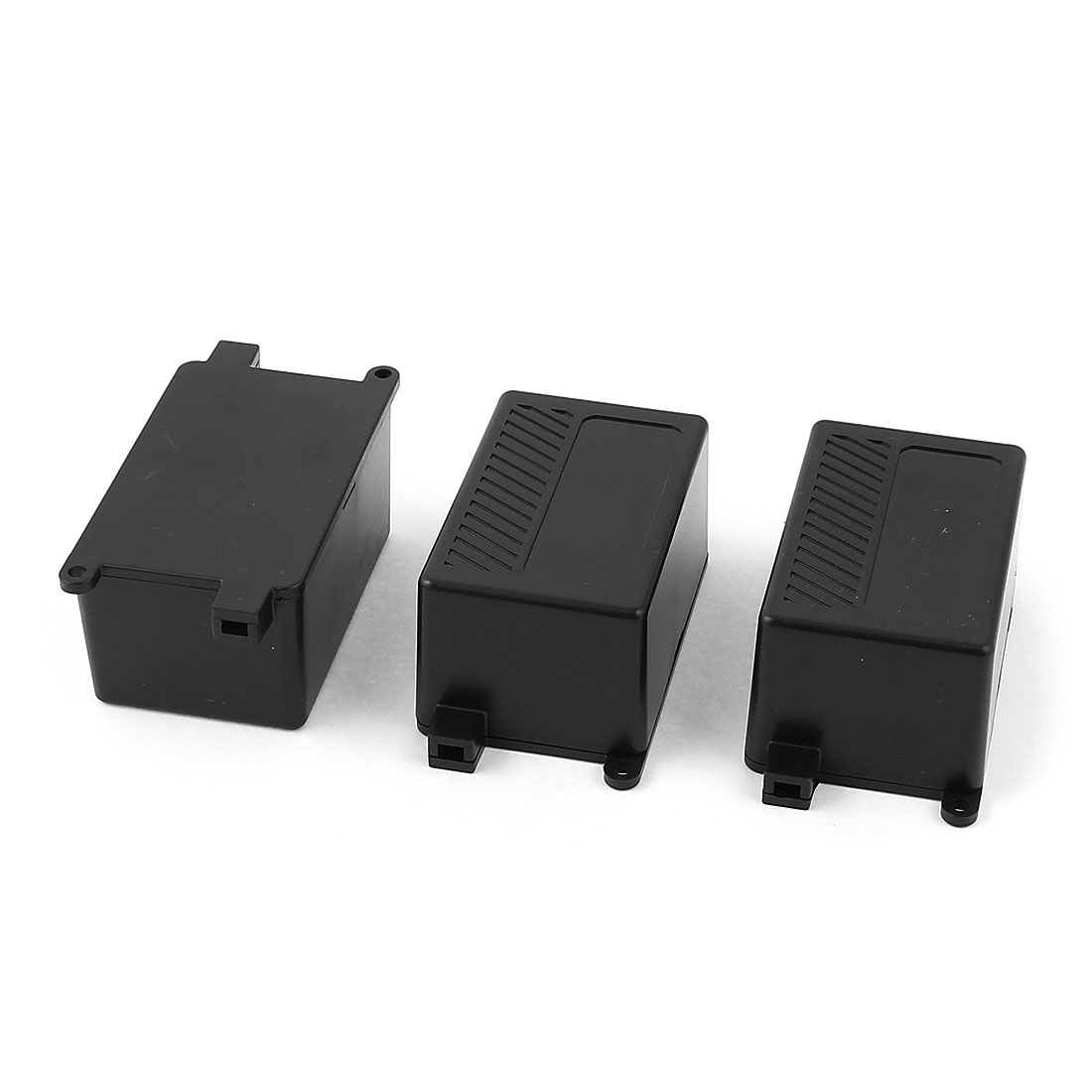 Outdoor Plastic Protective Case Junction Box Black 68x43x36mm 3pcs
