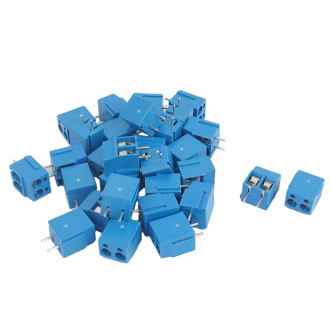 30pcs AC 300V 16A 2P 5mm Spacing Pluggable PCB Mounting Terminal Block for AWG14-22 Cable