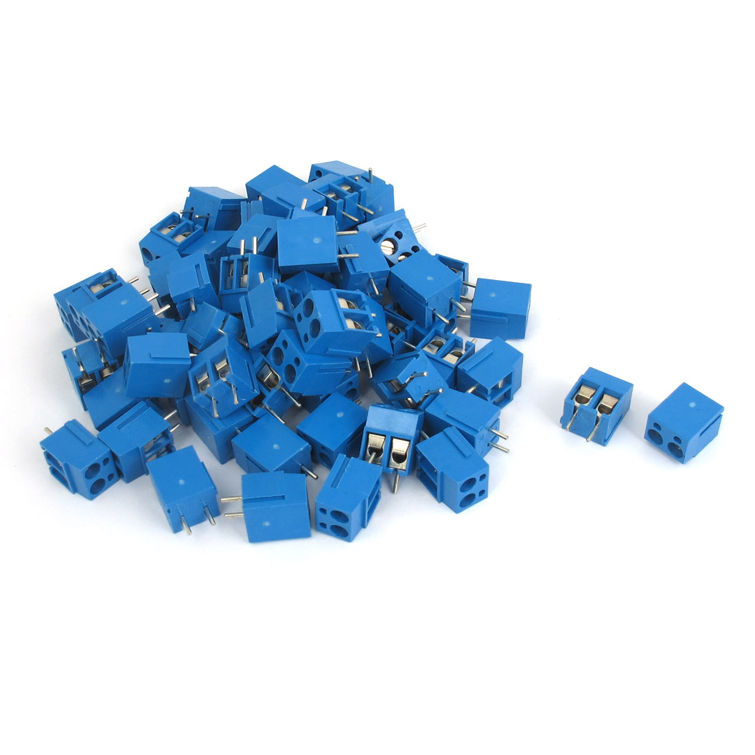 65pcs AC 300V 16A 2P 5mm Pitch Pluggable PCB Mounted Terminal Block for AWG14-22 Cable