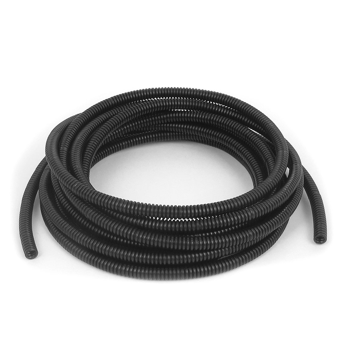 5mm Inner Dia Flexible Corrugated Bellows Tube Hose Cable Tubing Black 4.2m 13.8Ft Long