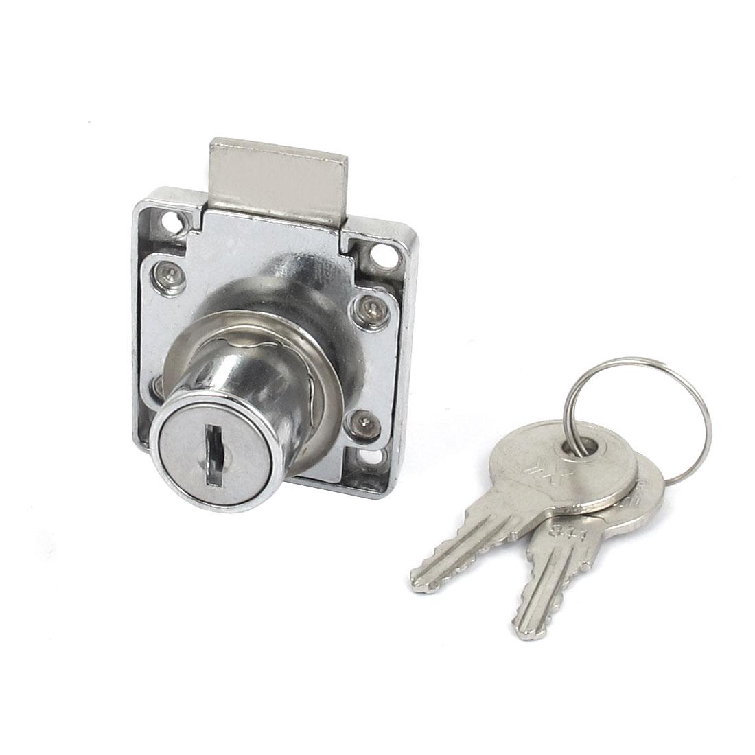 Glass Cabinet Cupboard Single Door Cylinder Head Rim Security Lock Locking w 2 Keys