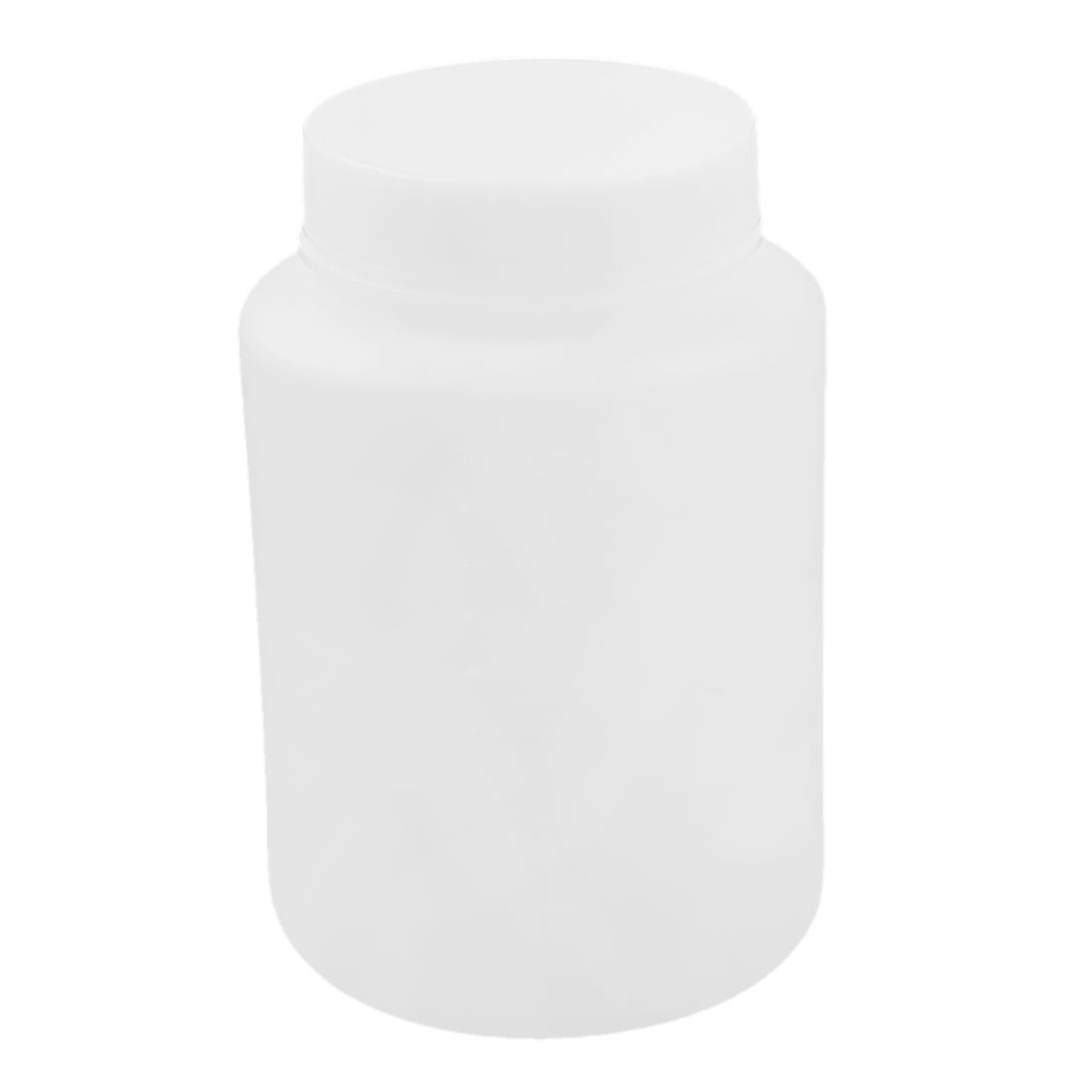 Plastic 500mL Capacity Screwcap Lab Chemical Liquid Storage Bottle White